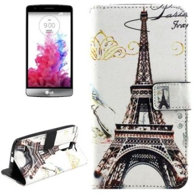 Kožené púzdro pre LG G3 - Eiffel Tower