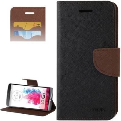Kožené diárové púzdro pre LG G3 - Black and Brown