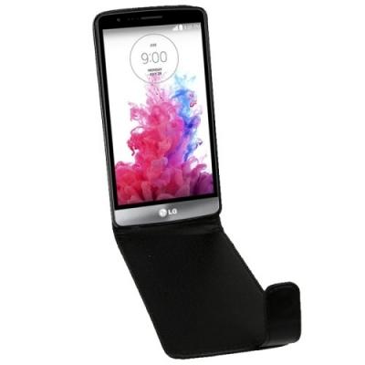 Ochranné kožené púzdro pre LG G3 - Black