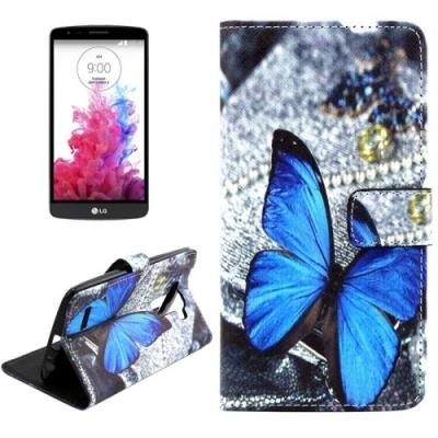 Kožené púzdro pre LG G4 - Blue Butterfly