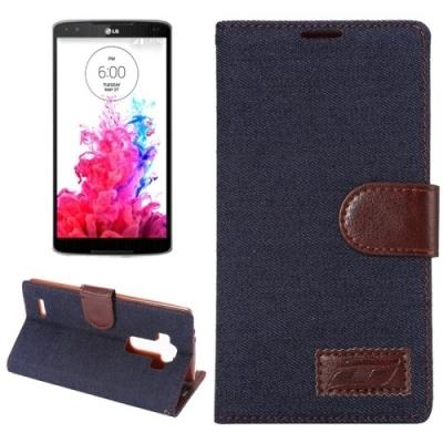 Kožené diárové púzdro pre LG G4 - Denim Black