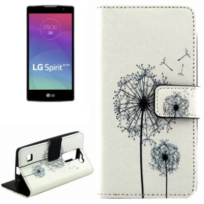 Kožené púzdro pre LG Spirit 4G LTE - Dandelion