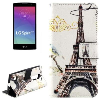 Kožené púzdro pre LG Spirit 4G LTE - Eiffel Tower
