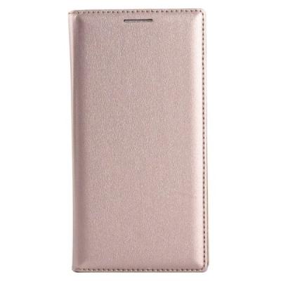 Kožené diarové púzdro pre Samsung Galaxy A3 - Gold