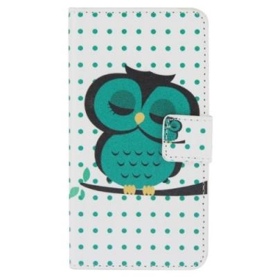 Kožené púzdro pre Samsung Galaxy A3 - Owl