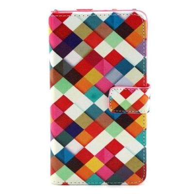 Kožené púzdro pre Samsung Galaxy A3 - Colorful Grid