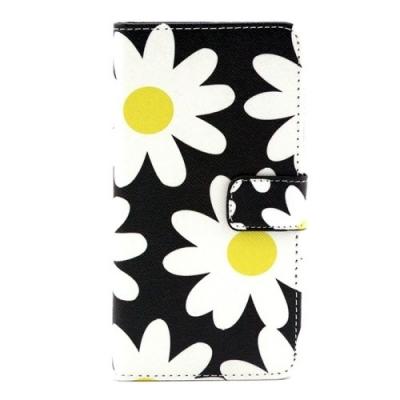 Kožené púzdro pre Samsung Galaxy A3 - Daisy Flowers