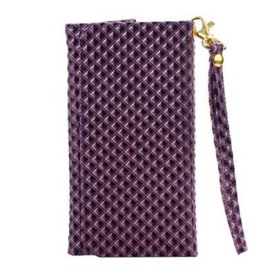 Dizajnové kožené púzdro pre Samsung Galaxy A5/A3/iPhone4/5/5C/5S/6- Purple