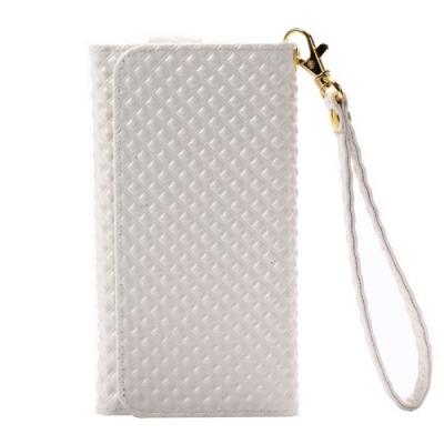 Dizajnové kožené púzdro pre Samsung Galaxy A5/A3/iPhone4/5/5C/5S/6- White