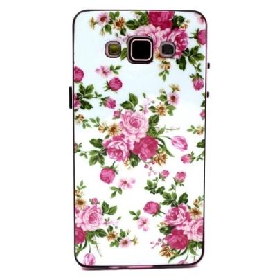 Ochranný kryt s rámom pre Samsung Galaxy A5 - Roses