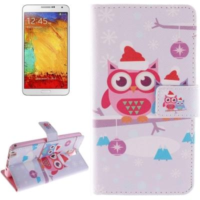 Kožené púzdro pre Samsung Galaxy Note 3/ N9000 - Christmas Owl