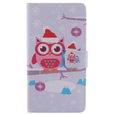 Kožené púzdro pre Samsung Galaxy Note 4/ N910 - Christmas Owl