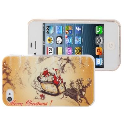 Štýlový ochranný kryt pre iPhone 4 & 4S - Santa Claus