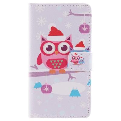 Kožené púzdro pre LG G3/D855 - Christmas Owl