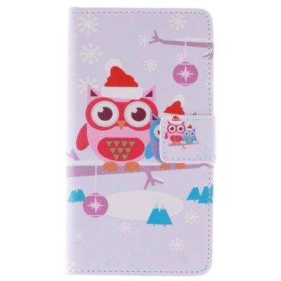 Kožené púzdro pre LG G4/H815 - Christmas Owl