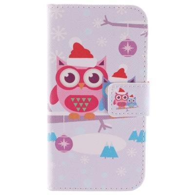 Kožené púzdro pre LG G2 mini - Christmas Owl