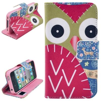 Kožené púzdro pre iPhone4/4S - Owl