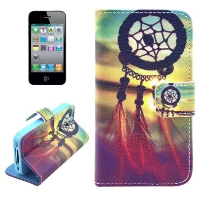 Kožené púzdro pre iPhone4/4S - Lapač snov