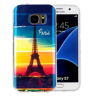 Štýlový ochranný kryt pre Samsung Galaxy S7 Rainbow Eiffel Tower