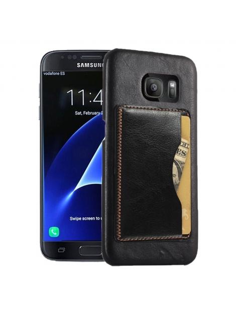 Kožené kryt pre Samsung Galaxy S7 edge - black