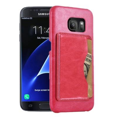 Kožené kryt pre Samsung Galaxy S7 edge - magenta