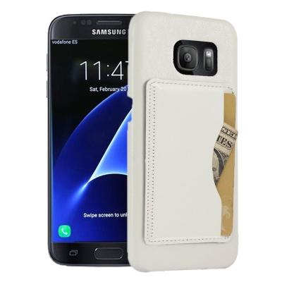 Kožené kryt pre Samsung Galaxy S7 edge - white