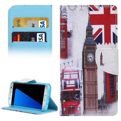 Kožené púzdro s motívom pre Samsung Galaxy S7 edge - Britain