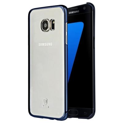 Baseus ochranný kryt so štruktúrou pre Samsung Galaxy S7 edge - dark blue