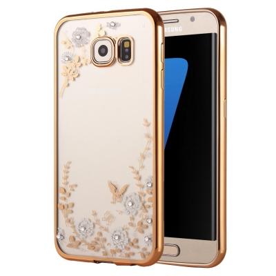 Ochranný kryt s rámom na Samsung Galaxy S7 edge - Kvety