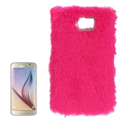 Chlpatý kryt pre Samsung Galaxy S6 - červené