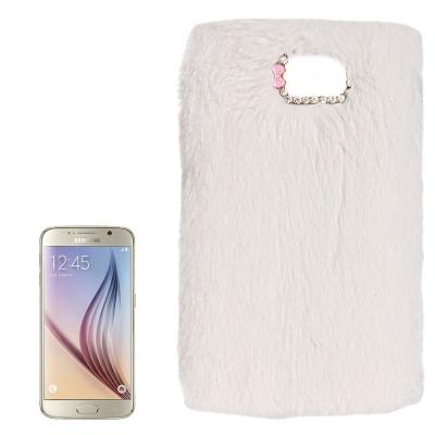 Chlpatý kryt pre Samsung Galaxy S6 - biele