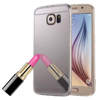 Zrkadlový kryt pre Samsung Glaxy S6 edge - Silver