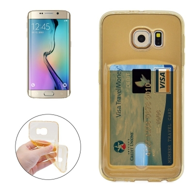 Ultra tenké TPU  ochranné púzdro pre Samsung Galaxy S6 edge - gold