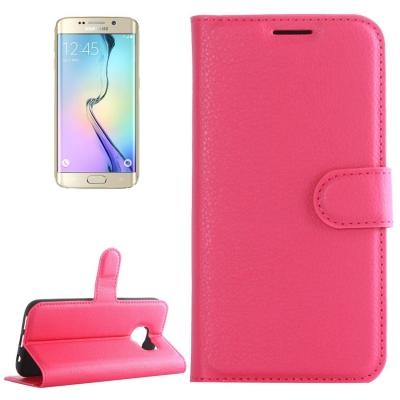 Elegantné puzdro litchi pre Samsung Galaxy S6 edge - Magenta