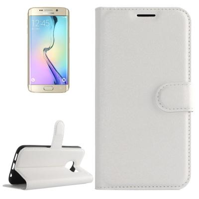 Elegantné puzdro litchi pre Samsung Galaxy S6 edge - White