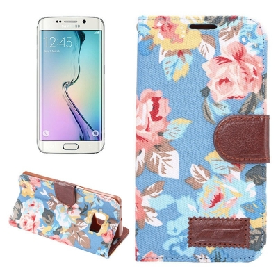Diárové púzdro pre Samsung Galaxy S6 edge - Floral blue
