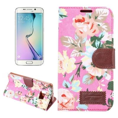 Diárové púzdro pre Samsung Galaxy S6 edge - Floral magenta
