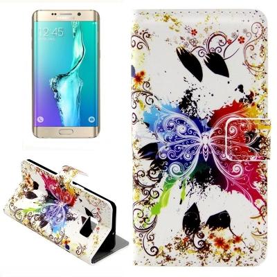 Kožené púzdro pre Samsung Galaxy S6 edge plus - Creative butterfly