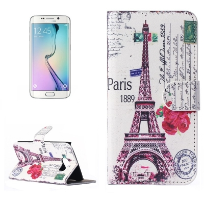 Diárové púzdro pre Samsung Galaxy S6 edge - Flower eiffel