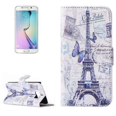Diárové púzdro pre Samsung Galaxy S6 edge - Butterfly eiffel