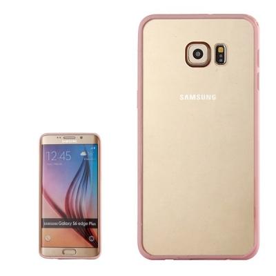 Ochranný kryt s rámom na Samsung Galaxy S6 edge plus - Light pink