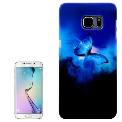 Ochranný plastový kryt pre Samsung Galaxy S6 edge plus - Blue Butterfly