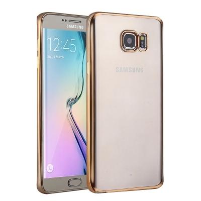 Ochranný flex kryt pre Samsung Galaxy S6 edge plus - Gold