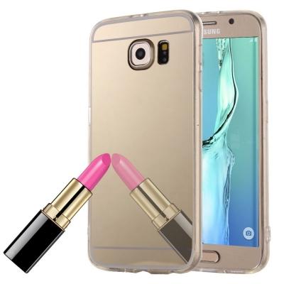 Zrkadlový kryt pre Samsung Glaxy S6 edge plus - Gold