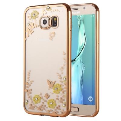 Ochranný kryt s rámom na Samsung Galaxy S6 edge plus - Kvety