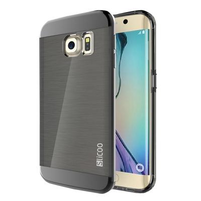 Ochranný kryt Slicoo so štruktúrou na Samsung Galaxy S6 Edge plus - čierny