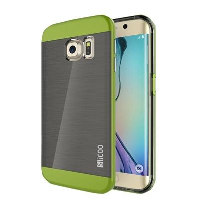 Ochranný kryt Slicoo so štruktúrou na Samsung Galaxy S6 Edge plus - zelený