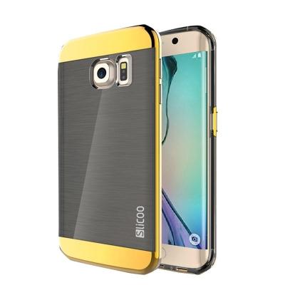 Ochranný kryt Slicoo so štruktúrou na Samsung Galaxy S6 Edge plus - zlatý