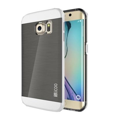 Ochranný kryt Slicoo so štruktúrou na Samsung Galaxy S6 Edge plus - biely
