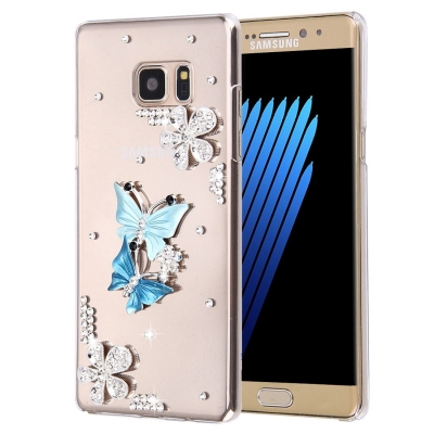 Ochranný kryt s ozdobným motívom pre Samsung Galaxy Note 7 - Twin Butterflies